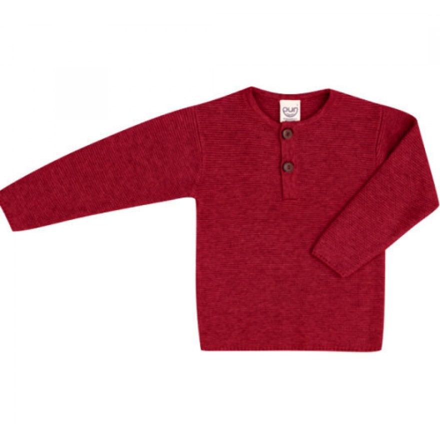 Puri Pullover Baumwolle / Wolle rot