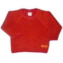 Pullover Ringel Frottee rot Lana natural wear