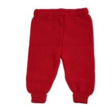Baby Hose Strickhose Wolle Wollhose rot ab